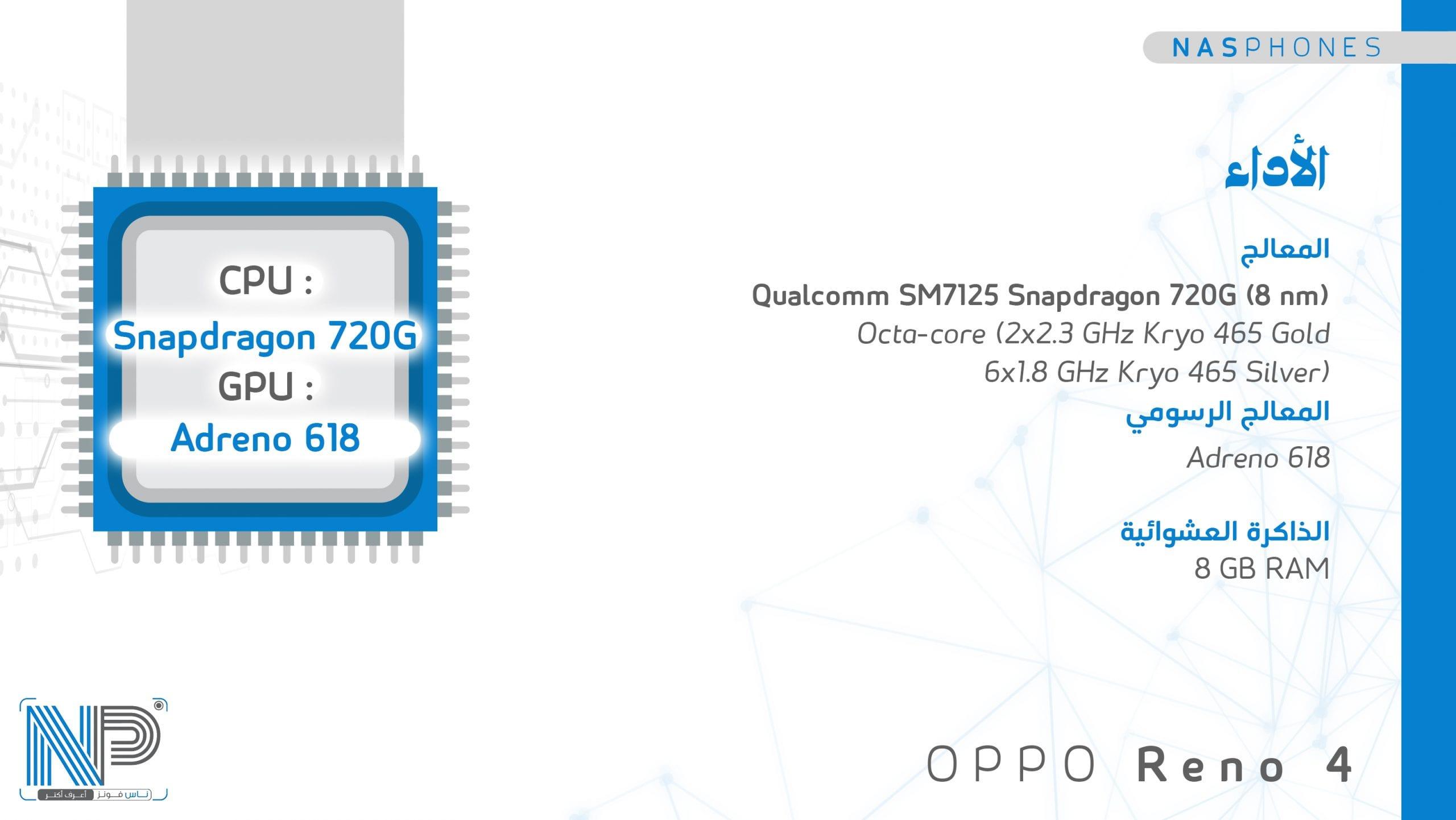 أداء موبايل Oppo reno 4