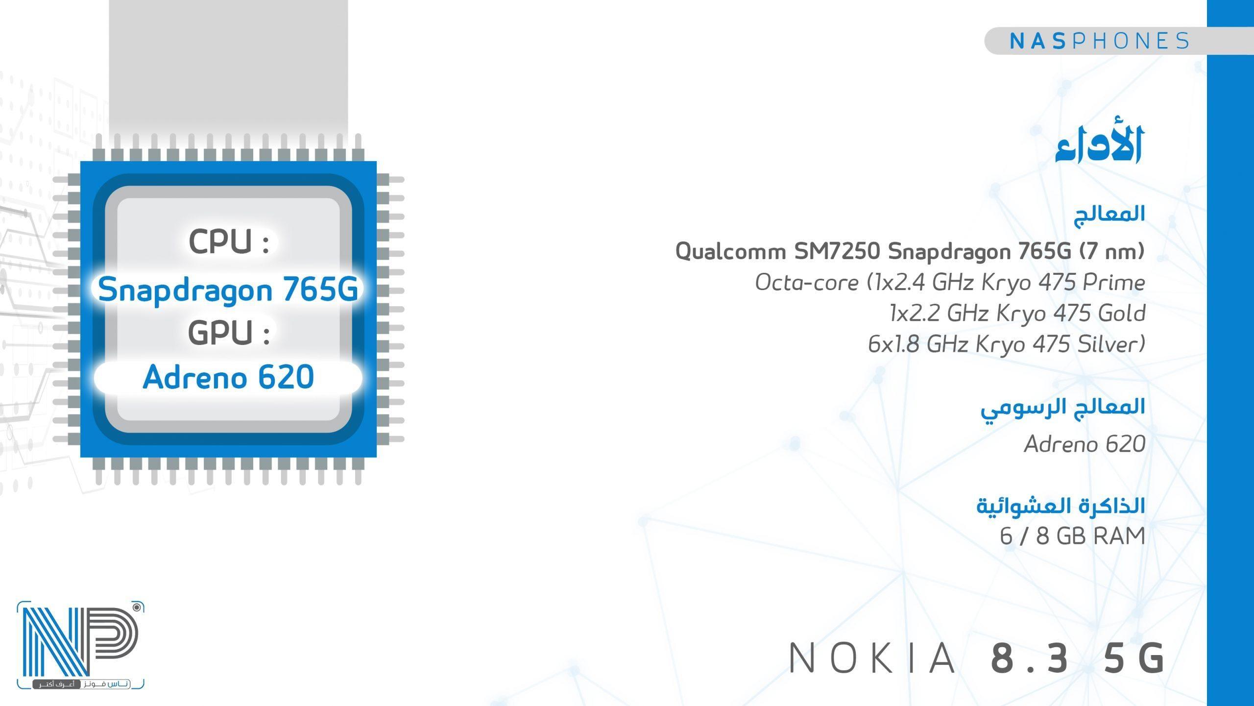 أداء موبايل Nokia 8.3 5G