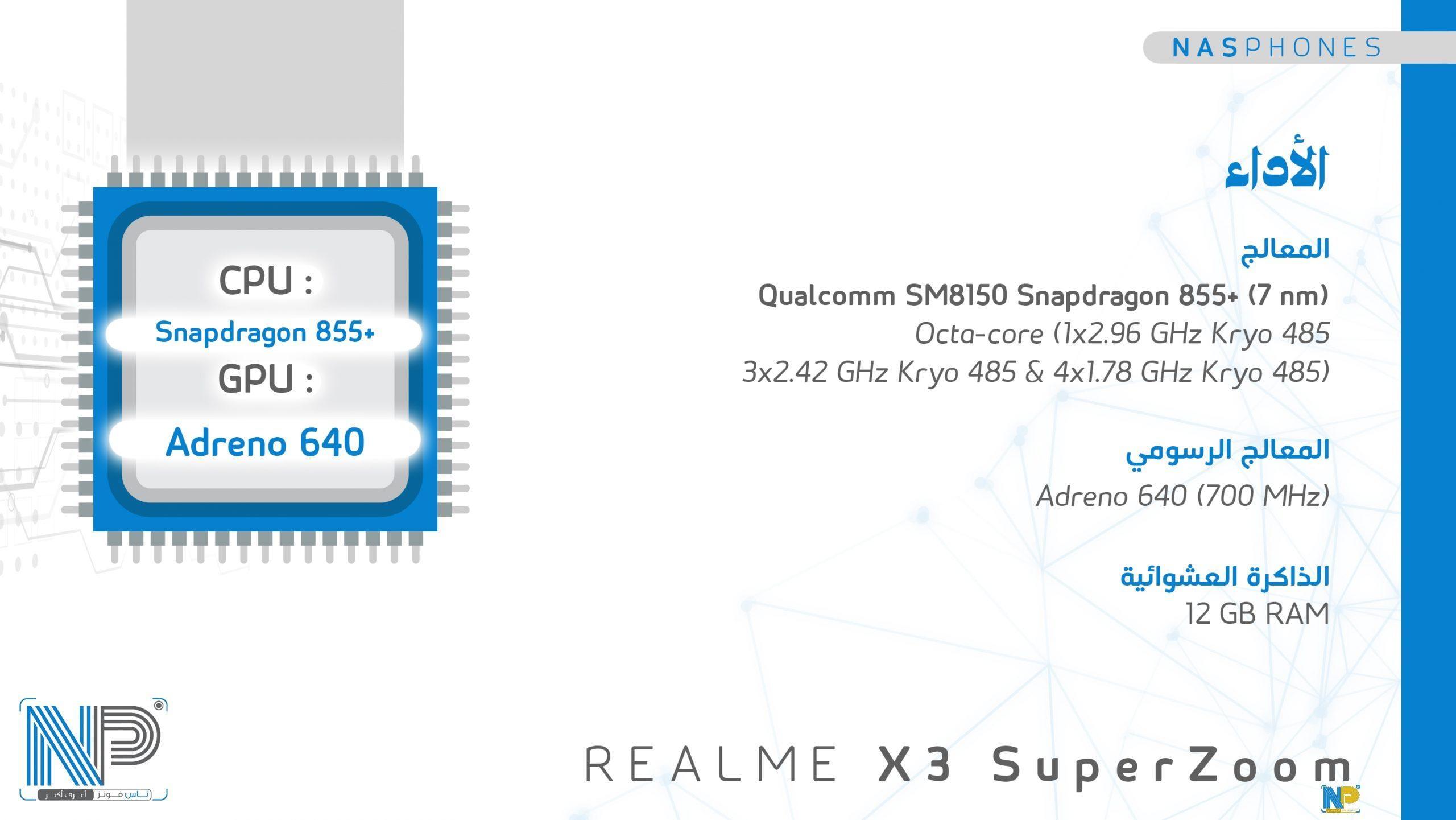 أداء موبايل Raelme x3 super zoom