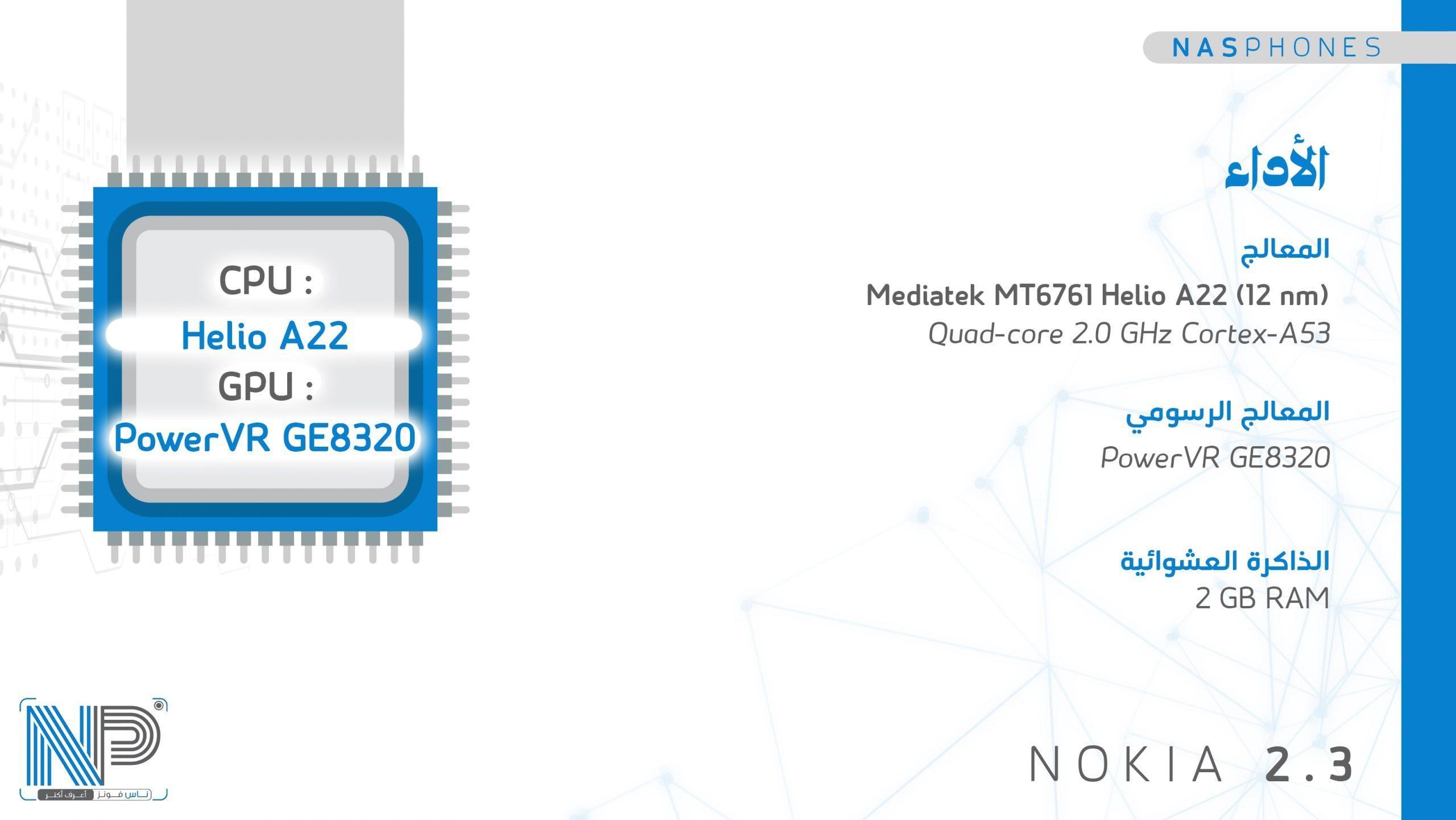 أداء موبايل Nokia 2.3