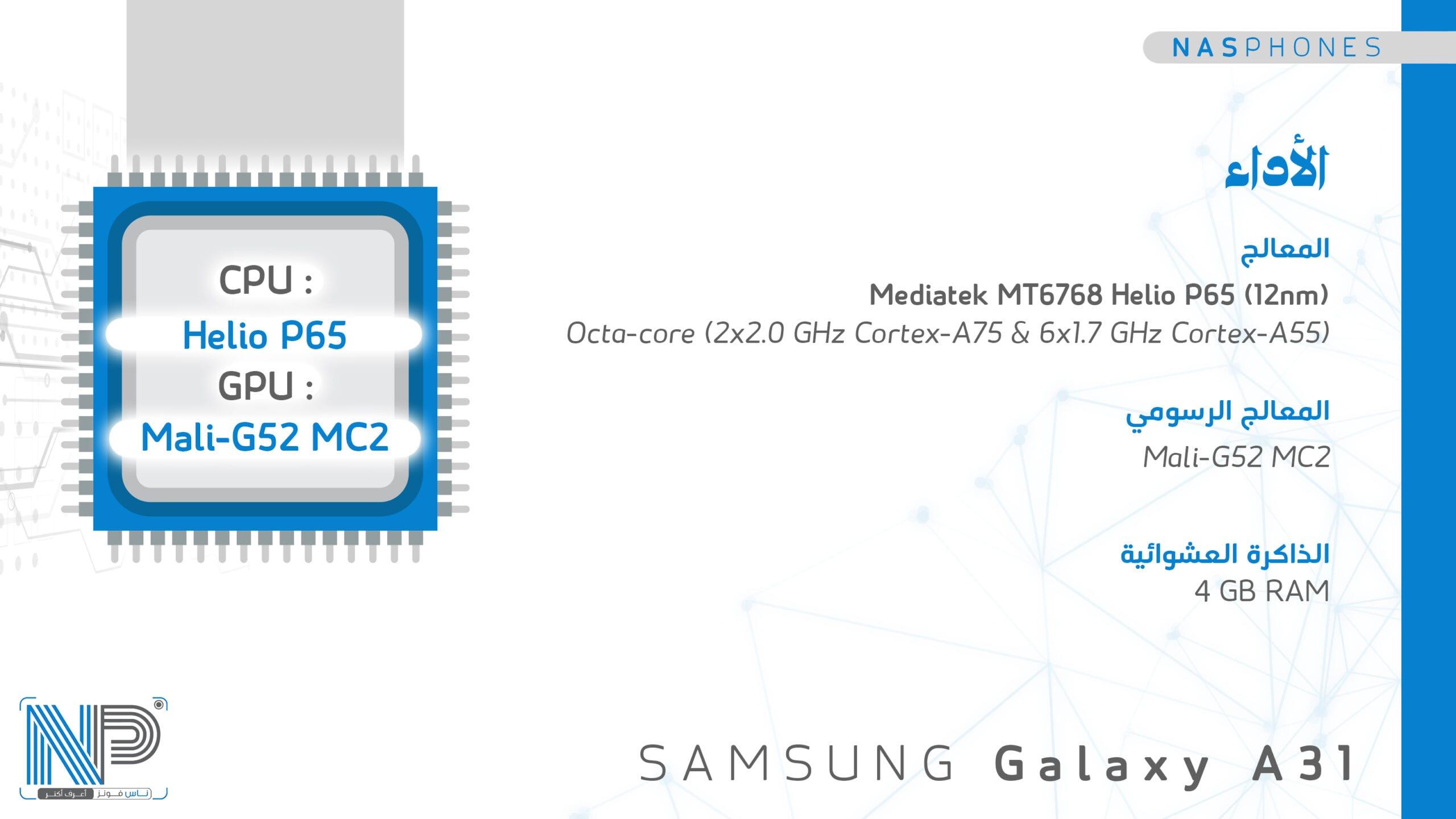 أداء samsung Galaxy A 31