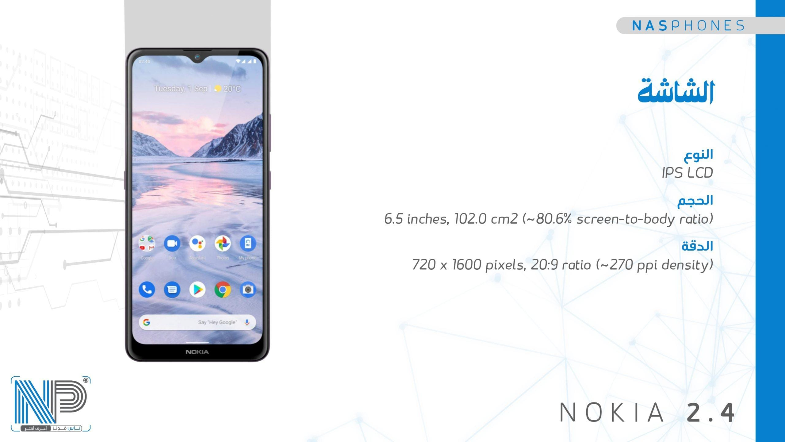 شاشة موبايل Nokia 2.4