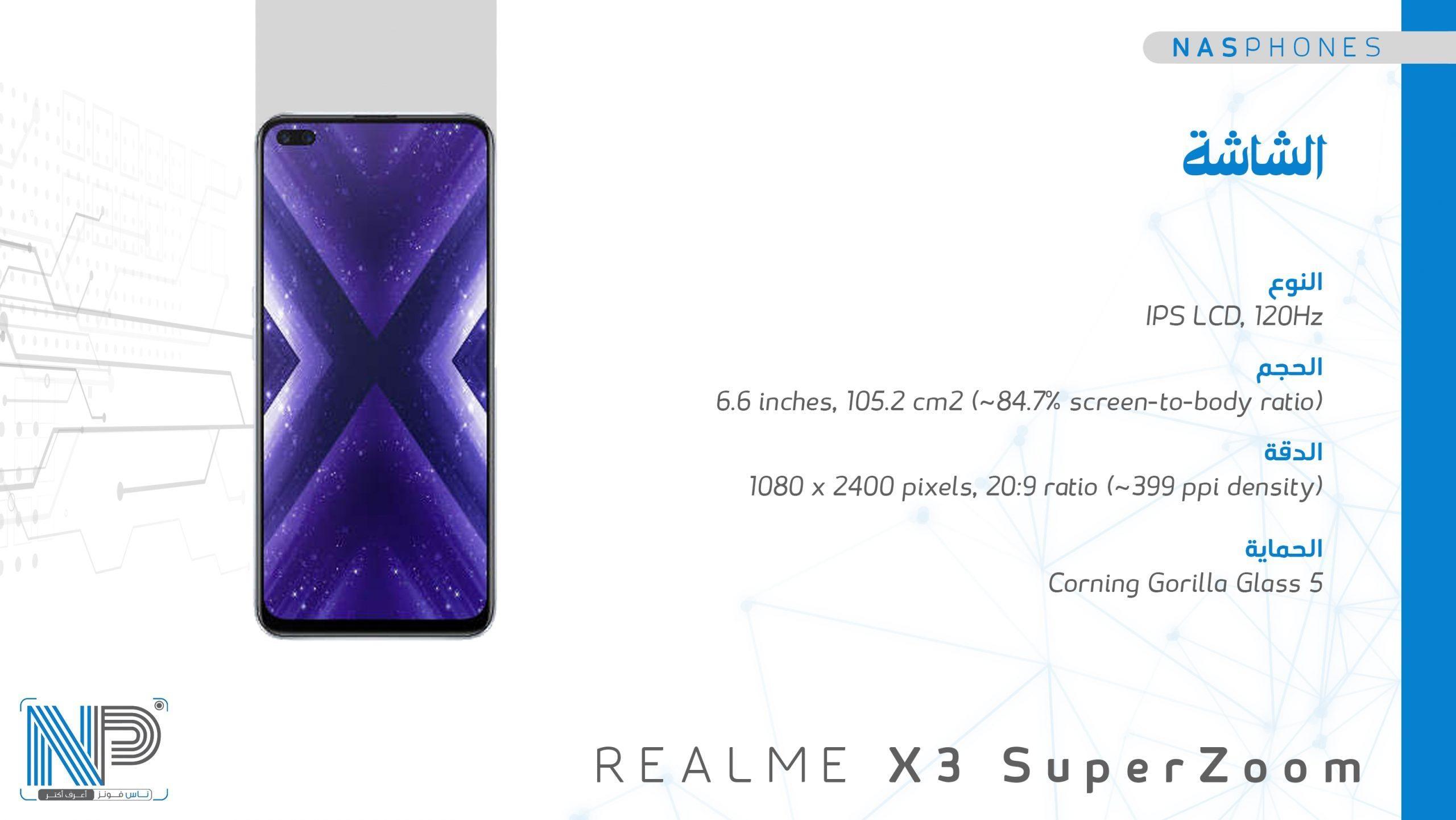 شاشة موبايل Raelme x3 super zoom