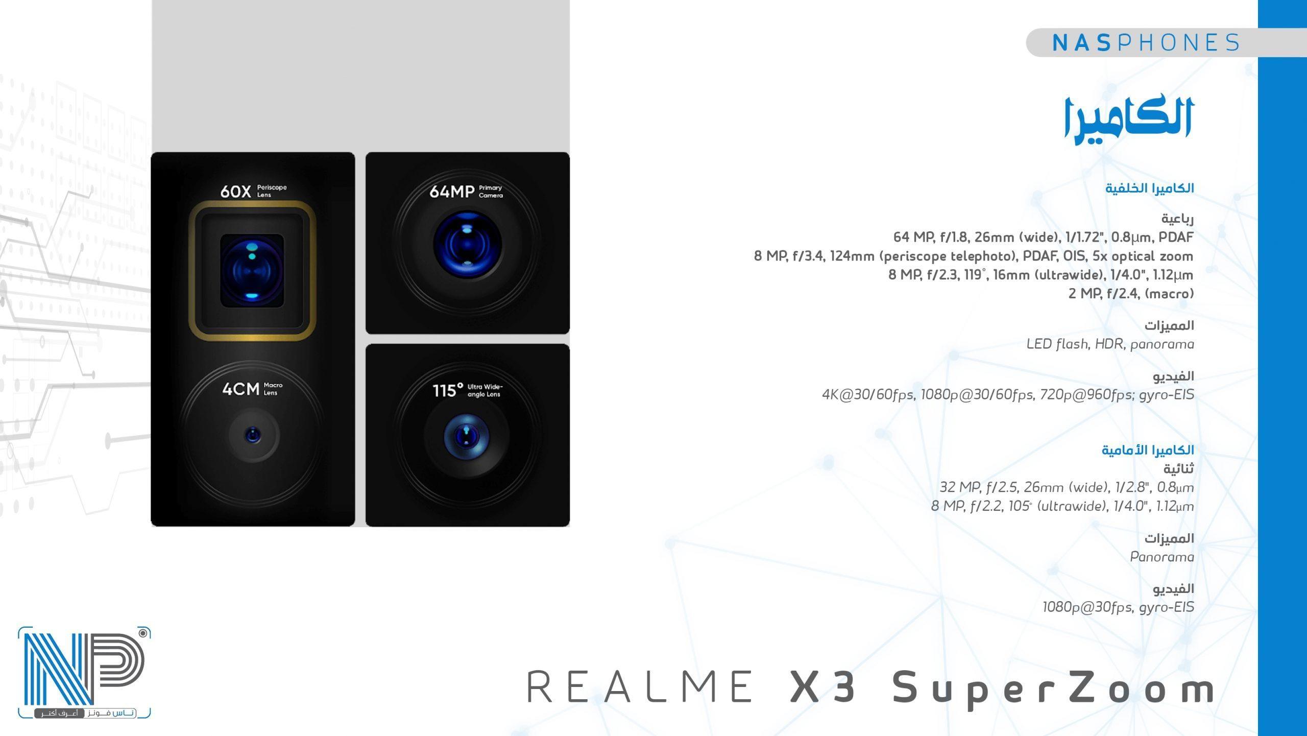 كاميرات موبايل Raelme x3 super zoom